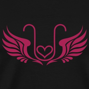 Kryon Crystal Elexier - UNCONDITIONAL LOVE /wings/ T-skjorter - Premium T-skjorte for menn