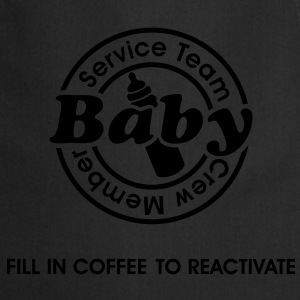 Service Team Baby. Fill in Coffee to reactivate.  T-shirts - Keukenschort