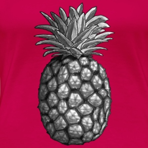 Pineapple BW Tops - Women's Premium T-Shirt