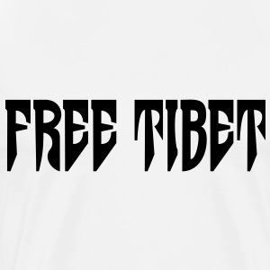 Free Tibet. International Independence Movement Topper - Premium T-skjorte for menn