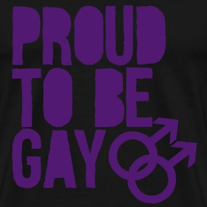 Proud to be gay Topper - Premium T-skjorte for menn