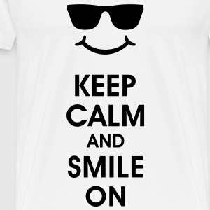 Keep Calm and Smile. Smiling helps. Smiley Smilie T-Shirts - Men's Premium T-Shirt