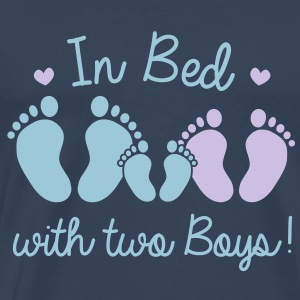 in bed with two boys Tops - Men's Premium T-Shirt