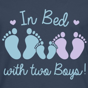 in bed with two boys Tops - Men's Premium Longsleeve Shirt