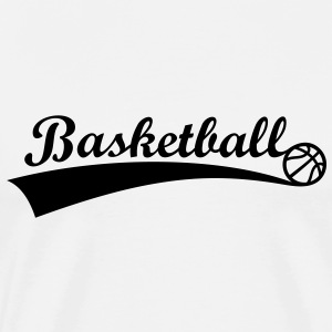 Basketbal Bal ** Fan Team Logo basketbal pictogram T-shirts - Mannen Premium T-shirt