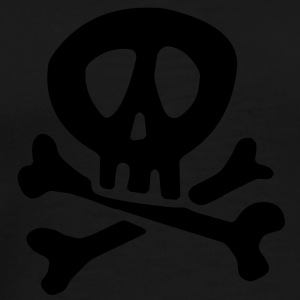 Comic Pirate Skull For Black Shirts Tops - Männer Premium T-Shirt
