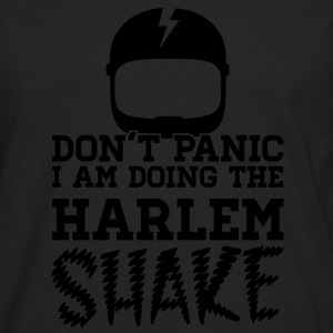 Don't panic do the Harlem shake meme dance t-shirt T-shirts - Långärmad premium-T-shirt herr
