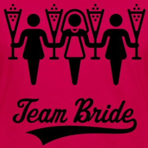 Team Bride, Women's Shoulder-Free Tank Top - Women's Premium Longsleeve Shirt
