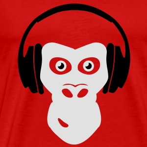 gorilla with headphones Tops - Men's Premium T-Shirt