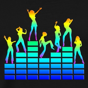 Dancing girls - equalizer - EQ -  music - sound Topper - Premium T-skjorte for menn