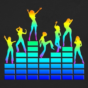 Dancing girls - equalizer - EQ -  music - sound Toppar - Långärmad premium-T-shirt herr