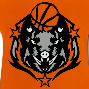 basketball sanglier boar2 logo club ball Tee shirts - T-shirt Bébé