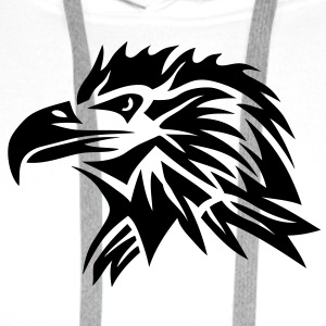 aigle tribal eagle tatoo tatouage 11022 Tee shirts - Sweat-shirt à capuche Premium pour hommes