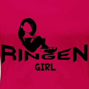 Ringen Girl Tops - Frauen Premium T-Shirt