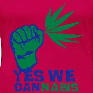 yes we cannabis marijuana poing fermer Débardeurs - T-shirt Premium Femme