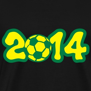 2014 annee football soccer trophe compet Tee shirts - T-shirt Premium Homme