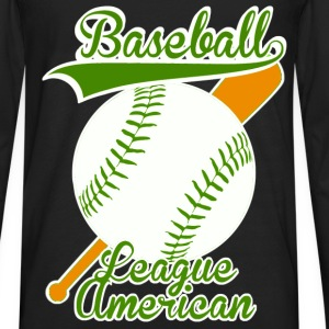 baseball league american Topper - Premium langermet T-skjorte for menn