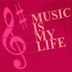 Music is my Life_V1 Tops - Vrouwen Premium T-shirt