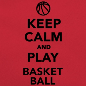 Keep calm and play Basketball T-Shirts - Retro Tasche