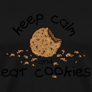 Keep calm and eat cookies Tee shirts - T-shirt Premium Homme