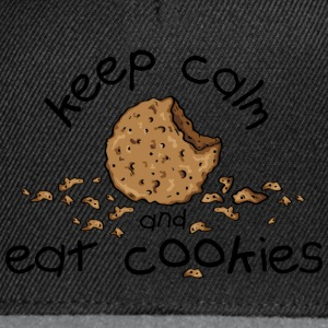 Keep calm and eat cookies Tee shirts - Casquette snapback