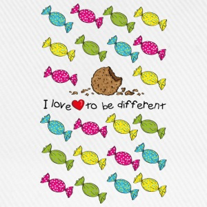 I love to be different- cookie Tops - Baseballkappe