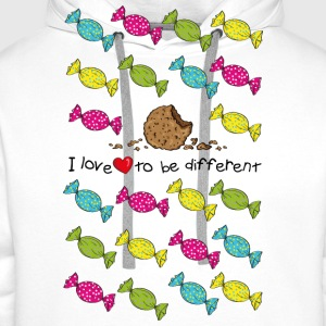 I love to be different- cookie Tops - Männer Premium Hoodie