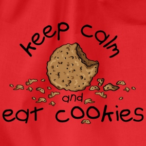 Keep calm and eat cookies Top - Sacca sportiva