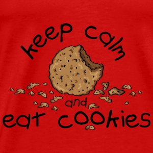 Keep calm and eat cookies Tops - Men's Premium T-Shirt