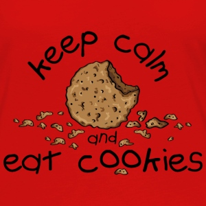 Keep calm and eat cookies Tops - Camiseta de manga larga premium mujer