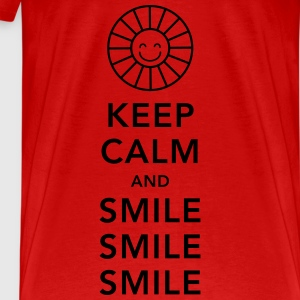 Keep calm and happy smile sunny spring summer sun Tops - Men's Premium T-Shirt