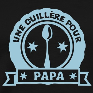 cuillere papa famille bebe logo tampon2 Tee shirts - T-shirt Premium Homme