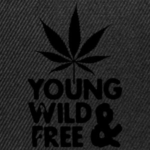 young wild and free weed leaf Tops - Gorra Snapback