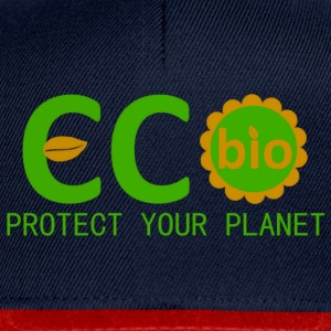eco bio protect your planet Tops - Snapback cap