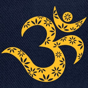 OM Mantra symbol, flowers, patterns, Aum, Buddhism Tops - Snapback Cap