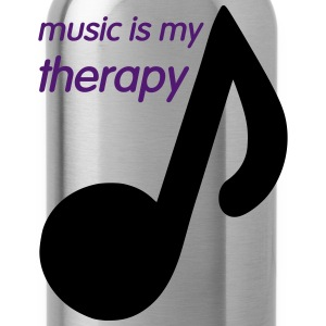 Music is my Therapy T-shirts - Drinkfles