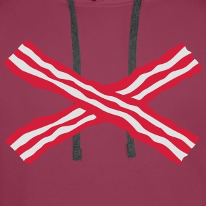 crossed bacon Tops - Men's Premium Hoodie