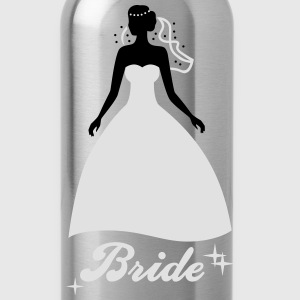 Bride - Braut - Mariée - Hochzeit - JGA - Team -2C Tops - Water Bottle
