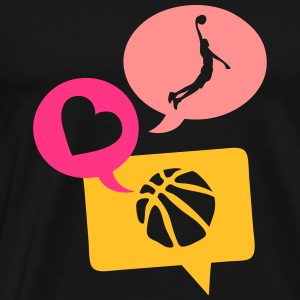 basketball dunk bulle love bubble 1 Tee shirts - T-shirt Premium Homme