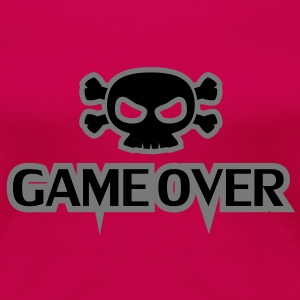 GAME OVER Totenkopf - Frauen Premium T-Shirt