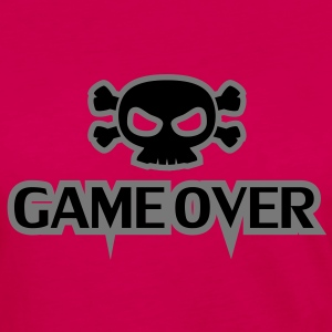 GAME OVER Totenkopf - Frauen Premium Langarmshirt
