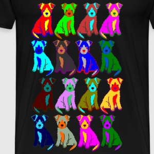 colorful puppies Tops - Mannen Premium T-shirt