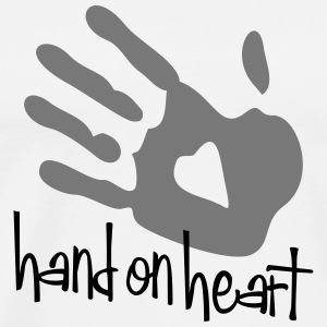 hand on heart - Männer Premium T-Shirt