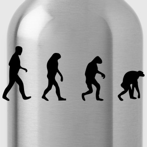 evolution backwards back to the roots T-Shirts - Trinkflasche