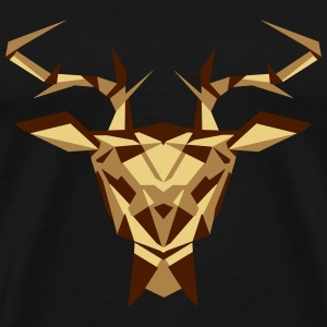multifaceted deer head T-Shirts - Men's Premium T-Shirt