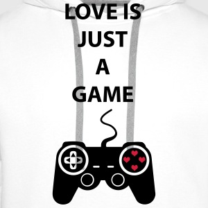 Love is just a Game 2c Topy - Bluza męska Premium z kapturem