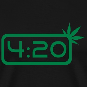 420 Weed clock Tee shirts - T-shirt Premium Homme