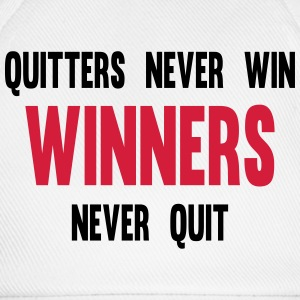 Quitters Never Win Winners Never Quit T-shirts - Baseballcap