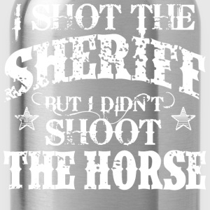 I Shot The Sheriff, But Not The Horse - White Tops - Water Bottle