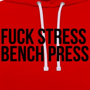 fuck stress Tee shirts - Sweat-shirt contraste